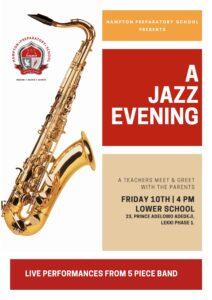 A music evening for teachers to meet parents.